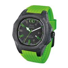 iTime Unisex Quartz with Black Dial Analogue Display and Green Silicone Strap PH4900-C-PH02G