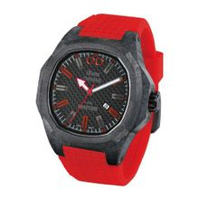iTime Unisex Quartz with Black Dial Analogue Display and Red Silicone Strap PH4900-C-PH02R