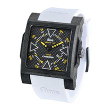 iTime Unisex Quartz with Black Dial Analogue Display and White Silicone Strap MC4300-C-MC03