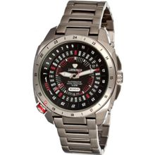 J Springs Automatic Retro Future (Black Dial; Steel Silver Band)