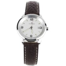 Jacques Lemans Stainless Steel Analog Leather Band