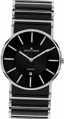 Jacques Lemans 1-1648A York Classic Analog with HighTech Ceramic and Sapphire Glass