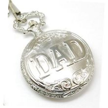 Fathers Day Gift Jakob Strauss Silver Tone ' DAD ' Gents Pocket JAST12