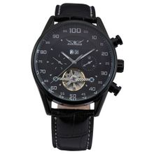 AMPM24 Automatic Mechanical Date Day Sport Tourbillon Black Leather Wrist PMW049
