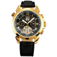 AMPM24 Leather Tourbillion Automatic Mechanical Classic Wrist Golden PMW014