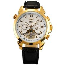 AMPM24 New Automatic Mechanical Analog Date & Day Luxury Leather Golden PMW018