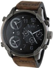 "JBW J6248L-K ""G4"" Multi-Time Zone Vintage Brown Leather"