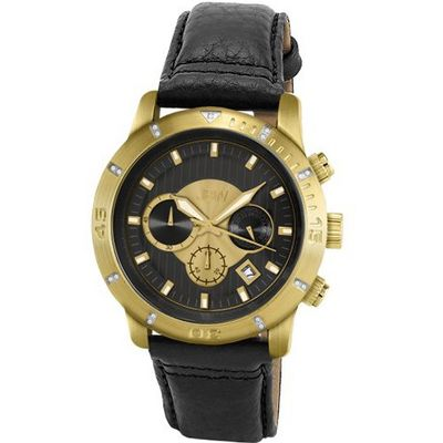 JBW J6259LB Cruiser Chronograph Brushed Gold-Plated