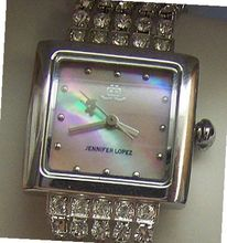 Jennifer Lopez JLo Mother of Pearl with crystal strands Fossil made