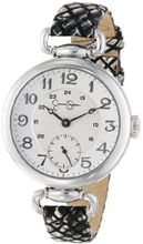 Jessica Simpson JS014B Round Case Analog Leather Strap and Multi-Layer Dial