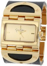 Jessica Simpson JS026A Rectangle Case Analog Leather Cuff