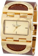 Jessica Simpson JS026C Rectangle Case Analog Leather Cuff