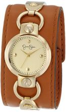 Jessica Simpson JS027D Round Integrated Case Analog Leather Cuff