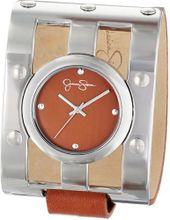 Jessica Simpson JS036B Cutout Case Analog Leather Cuff