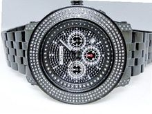 3.0 Ct Jojino Joe Rodeo Aqua Master Jojo 52 MM Real Diamond Wrist Mj-8035