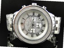 51 MM Jojino/Joe Rodeo Aqua Master Chronograph Metal Band Diamond Mj-1189