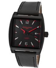 Black Dial Black Genuine Leather