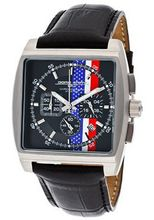 Chronograph Black Dial Black Genuine Leather