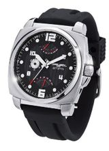 Jorg Gray 1040 Retrograde Calendar & Dual Time - Stainless - Black Dial
