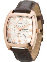 Jorg Gray 1320 Retrograde Calendar - Dual Time - Rose Gold - Brown Leather Strap