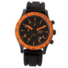 Jorg Gray 1900 Series Chronograph - Orange Accents - Black Case & Strap