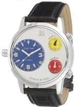 Joshua and Sons JS-02-02 'Triple Time Zone 24hr' Automatic and Quartz