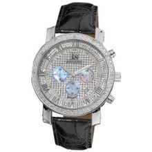 Joshua and Sons JS-28-01 Dazzling Diamond Chronograph