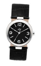 Joy Quartz with Black Dial Analogue Display and Black Leather Strap JW600