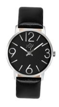 Joy Quartz with Black Dial Analogue Display and Black Leather Strap JW640