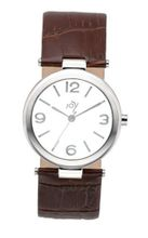 Joy Quartz with White Dial Analogue Display and Brown Leather Strap JW601