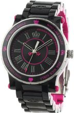 Juicy Couture 1900725 HRH Black and Hot Pink Plastic Bracelet