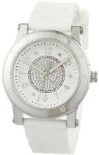 Juicy Couture 1900772 HRH Stainless-Steel Case White Jelly Strap