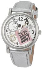Juicy Couture 1900810 Happy Silver Metallic Leather Strap