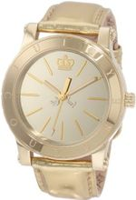 Juicy Couture 1900835 HRH Gold Mirror-Metallic Leather Strap