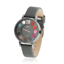 JULIUS Colorful Handmade Leather Casual Wrist Gray