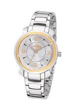 Just Cavalli Ladies Glam Analogue R7253179615 with Quartz Movement, Stainless Steel Bracelet and Silver Dial