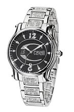 Just Cavalli Ladies R7253168545 In Collection Eclipse with 3 H and S, Black Dial and Stainless Steel Bracelet