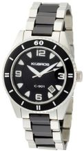 K&BROS 9113-1 C-901 Big Ceramic Silver-tone Black