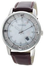K&BROS 9145-2 Steel Moon Stainless Steel Shiny Leather Strap
