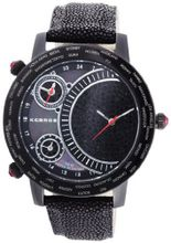 K&BROS 9146-1 On The Road 3 Movements Black Ion-Plated