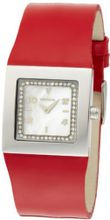 K&BROS 9153-3 Steel Squared Stainless Steel Red Leather