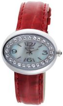 K&BROS 9158-3 Stainless Steel Red Leather