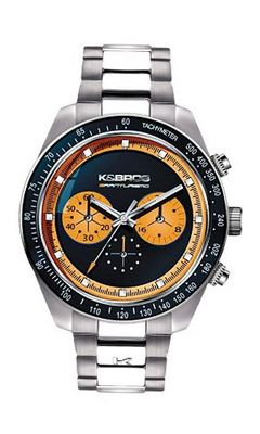 K&BROS 9481-2 Steel Man Colored Dial Chrono