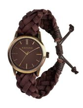 Kahuna KGF-0008G Tan Woven Leather Friendship