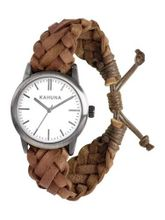 Kahuna KGF-0009G Brown Woven Leather Friendship