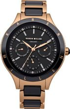 Karen Millen KM101RGM Ladies Rose Gold Chronograph