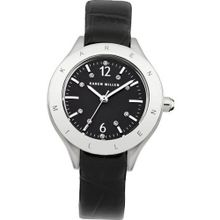 Karen Millen KM109B Ladies Black Leather Strap