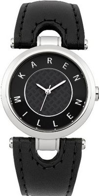 Karen Millen KM110B Ladies Black Leather