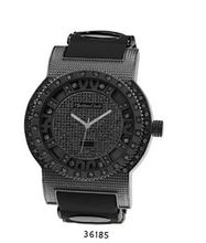 TRENDY FASHION Black/Black Bullet Band Silicon Strap , Hip-Hop Black Case, Black Dial BY FASHION DESTINATION