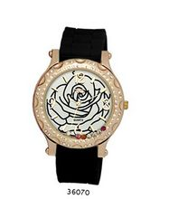 TRENDY FASHION Black Silicon Strap , Rose Gold Case, White Dial BY FASHION DESTINATION